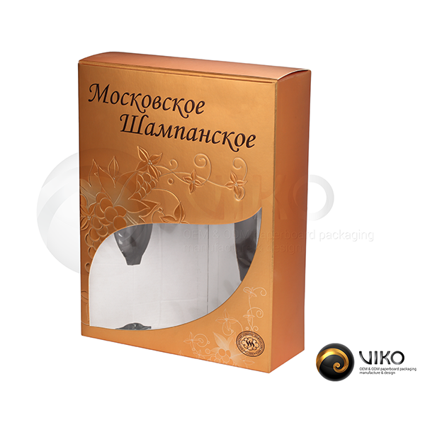 Подарочная упаковка Московское шампанское 325*250*85 мм