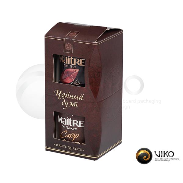 Подарочная упаковка Чайный дуэт 210*100*100 мм