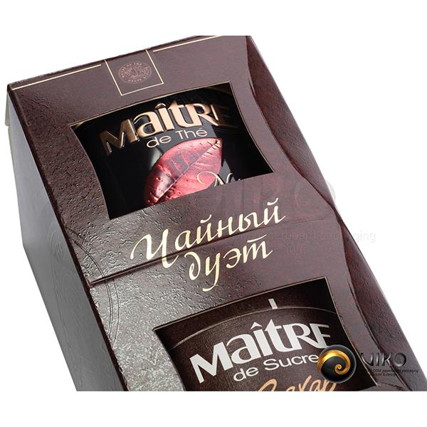 Чай и кофе / Подарочная упаковка для чая и кофе / Подарочная упаковка Чайный дуэт 210*100*100 мм