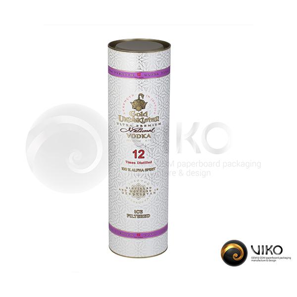 Упаковка Тубус золотой Узбекистан 99x355 мм