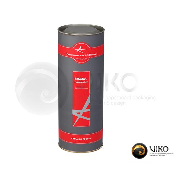 Упаковка Тубус водка радиолинейная 92x253 мм