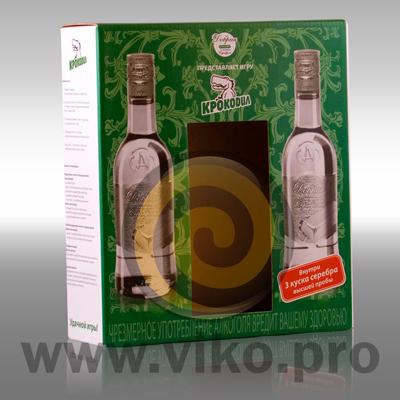 """Алкоголь / Подарочная упаковка / Подарочная упаковка для игры """"Крокодил"""" 230х77х260мм"""