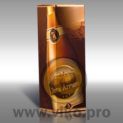 Индивидуальная упаковка для коньяка Terra Armena 80х80х247мм