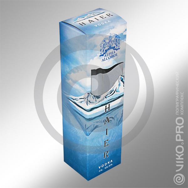 Индивидуальная упаковка для водки HAIER