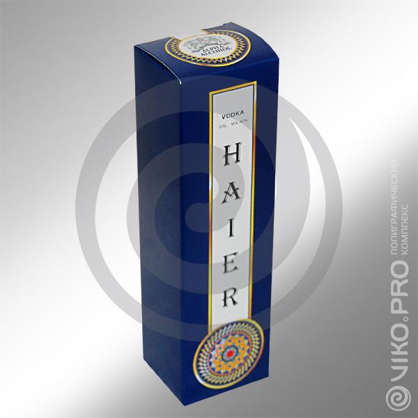 Индивидуальная упаковка для водки HAIER 2