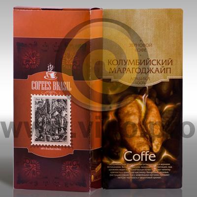 Упаковка для молотого кофе 86х42х145мм