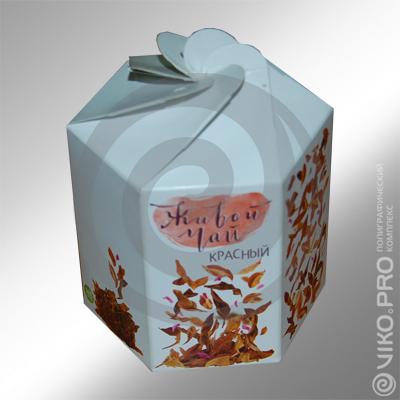 """Подарочная упаковка для чая """"Живой чай"""""""