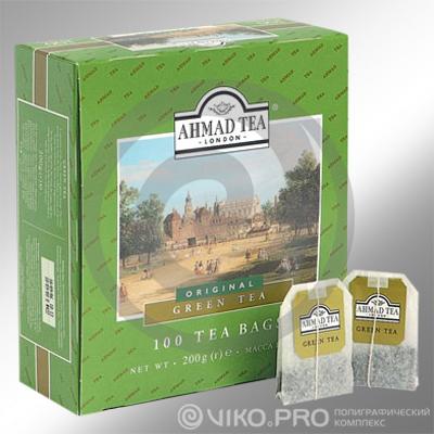 Упаковка для пакетированного чая AHMAD 165*140*60мм