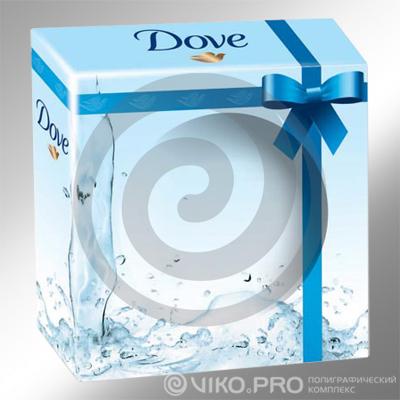Картонная упаковка для мыла Dove 80х80х40 мм