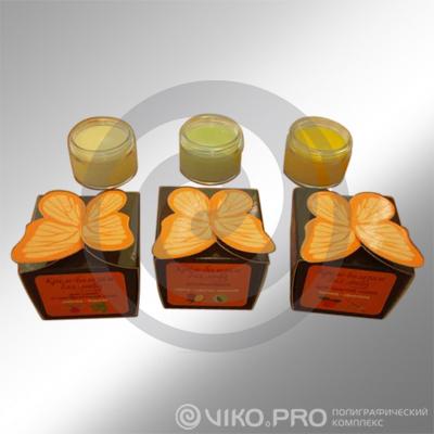 Картонная упаковка для крема 60х60х60 мм