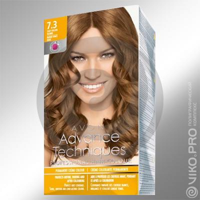 Картонная упаковка с печатью краски для волос AVON 150х90х60мм