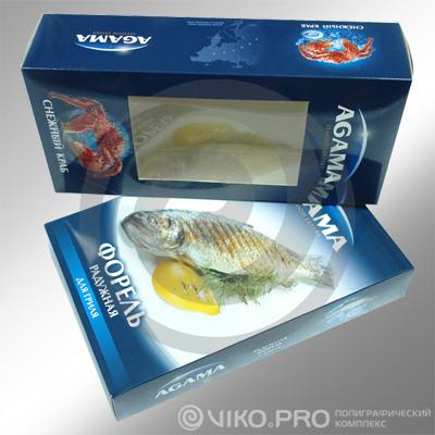 Упаковка для рыбы AGAMA 250х150х80 мм