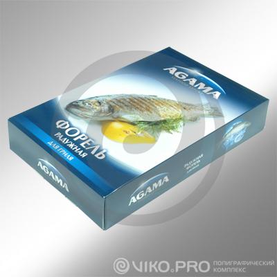 Пищевая упаковка / Для рыбы / Упаковка для рыбы AGAMA 250х150х80 мм 2