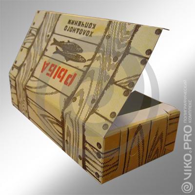 Упаковка для рыбы холодного копчения 180х100х70 мм