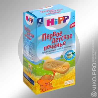 Упаковка для печенья HiPP 120х180х50 мм