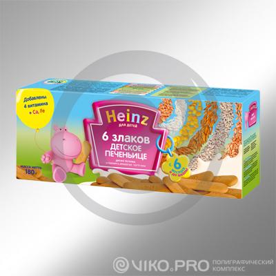 Картонная упаковка для печенья Heinz