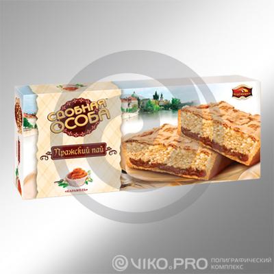Картонная упаковка для печенья Сдобная особа