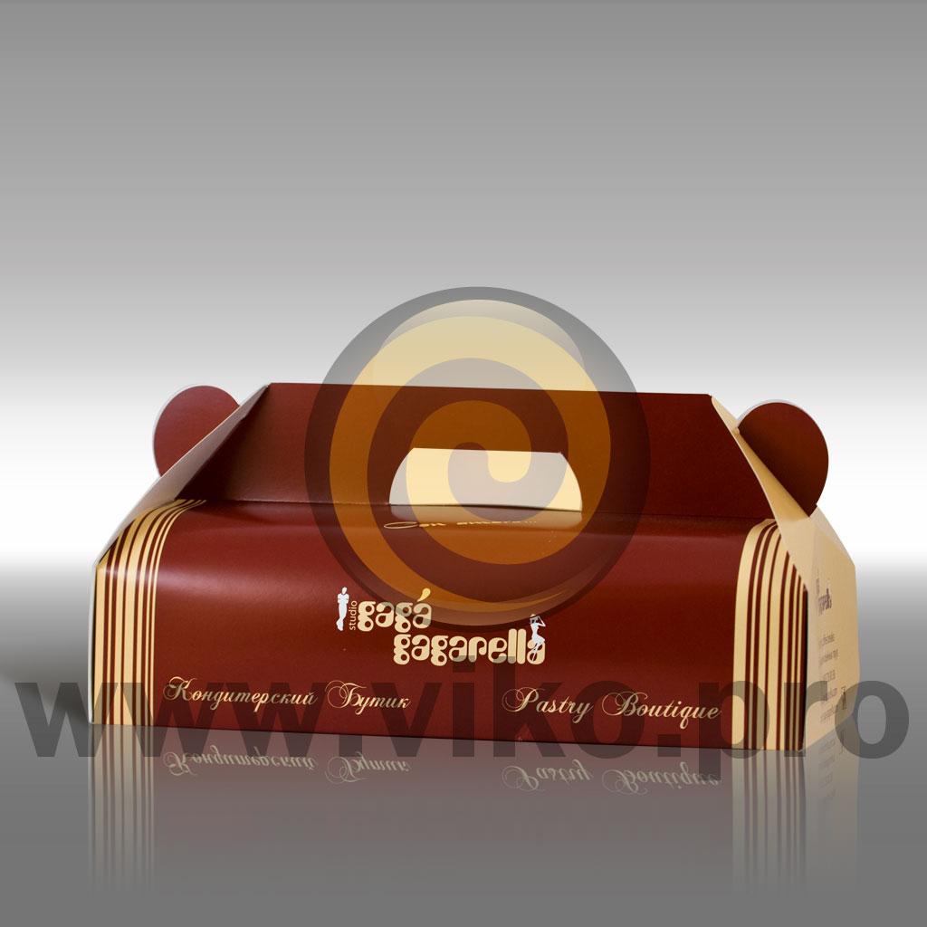 Картонная упаковка для конфет PASTRY BOUTIQUE