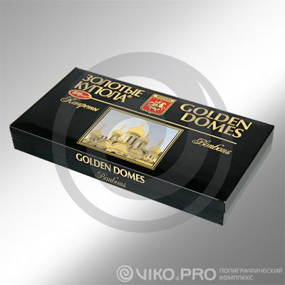 Картонная упаковка для конфет Золотые купола