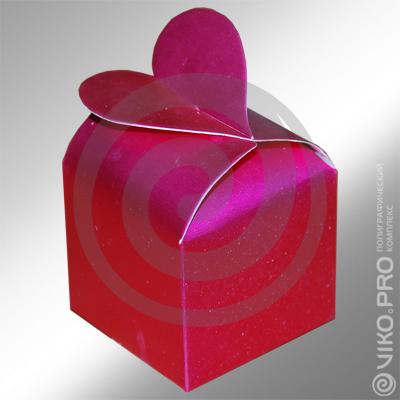 Кондитерская продукция / Подарочная упаковка / Подарочная упаковка для конфет сердечко