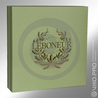 Картонная упаковка для конфет LEBONEUR 225х225х45 мм