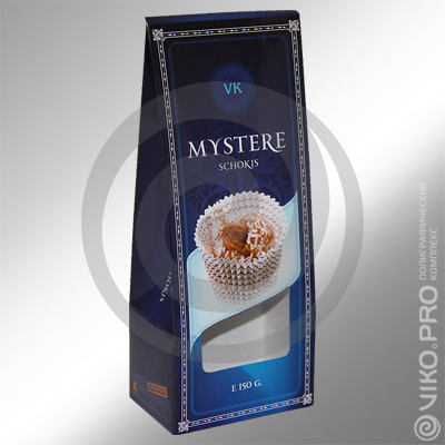 Кондитерская продукция / Для конфет / Картонная упаковка для конфет MYSTERE 80х200х50 мм