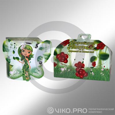 Подарочная упаковка для мармелада Сокровища Натурели 100х100х300 мм
