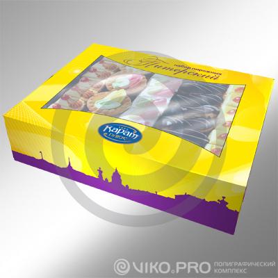 """Кондитерская продукция / Для пирожных / """"Упаковка для пирожных КАРАТ Плюс 200*120*60 мм"""""""