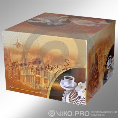 Картонная упаковка для торта 240х240х240 мм