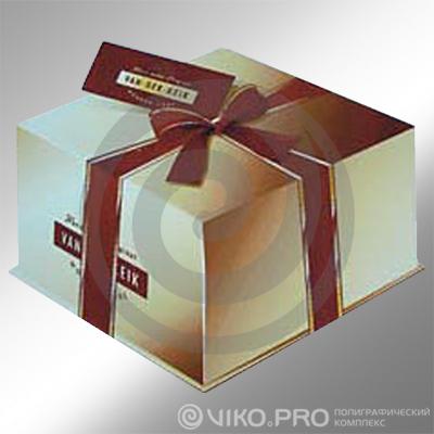 Картонная упаковка для торта 250*х250х150 мм