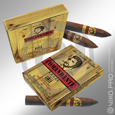 """Упаковка для сигар """"Comandante"""" 220х170х25 мм"""