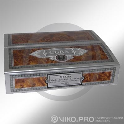 """Упаковка для сигар """"CUBA"""" 220х220х50 мм"""