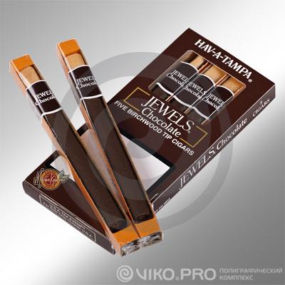 """Прочее / Для сигар / Упаковка для сигар """"Jewels"""" 75х150х15 мм"""