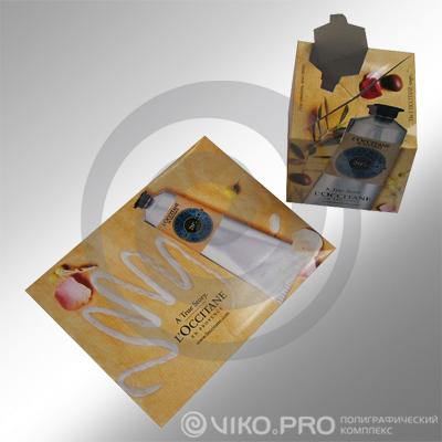 Картонный конверт в стиле ЭКО L'occitane 229*162 мм