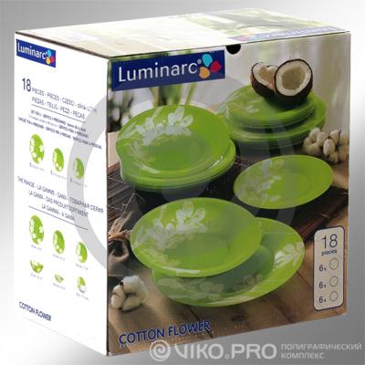 Упаковка для набора тарелок фирмы Luminarc 300х100х160 мм