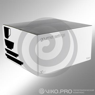 Картонная упаковка для набора посуды 400х260х220 мм