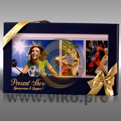 """Прочее / Корпоративные подарки / Подарочная упаковка для продукции компании """"Present show"""" 235х143х35 мм"""