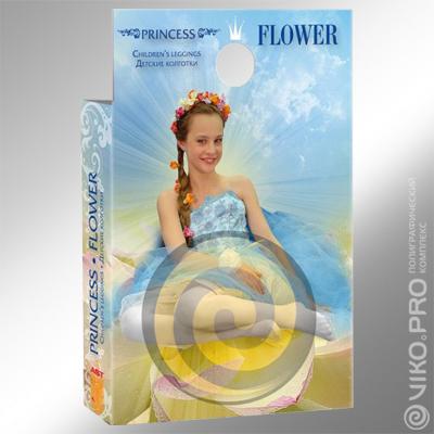 Упаковка для детских колготr Princess Flowe