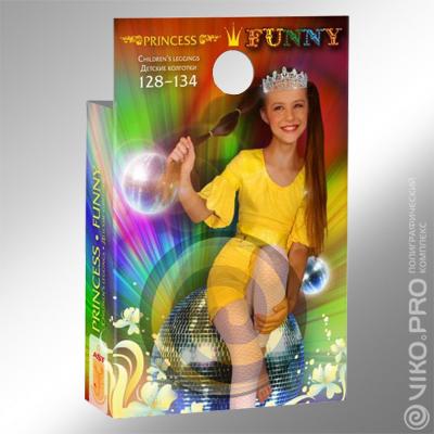 Упаковка для детских колгот Princess Funny2
