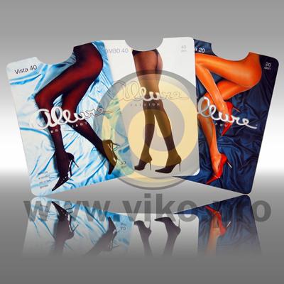 """Упаковка для женских колгот капроновые (Вставка в пакет) """"Allure"""" 2"""
