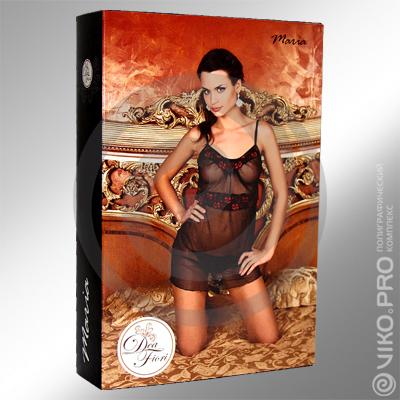 "Упаковка для женской сорочки ""Dea Fiori"" 190х40х130мм"