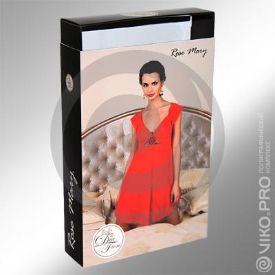 """Текстиль / Для пижамы / Упаковка для женской сорочки """"Dea Fiori"""" 190х40х130мм 2"""