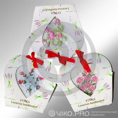 Упаковка для женского носового платка 110х120х18мм 2
