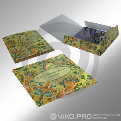 Текстиль / Для платков / Картонная упаковка для платка 190х170х7мм