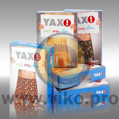 Текстиль / Для нижнего белья / Упаковка для мужских трусов YAX 3