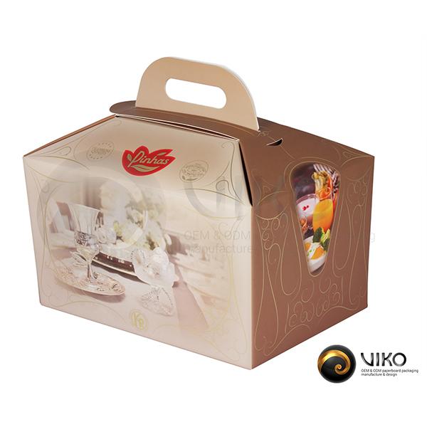 Картонная упаковка Ланч Бокс Pinhas 280*160*190 мм