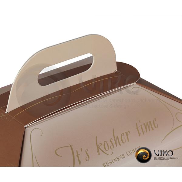 Картонный ланч бокс / Ланч Бокс / Картонная упаковка Ланч Бокс Pinhas 280*160*190 мм