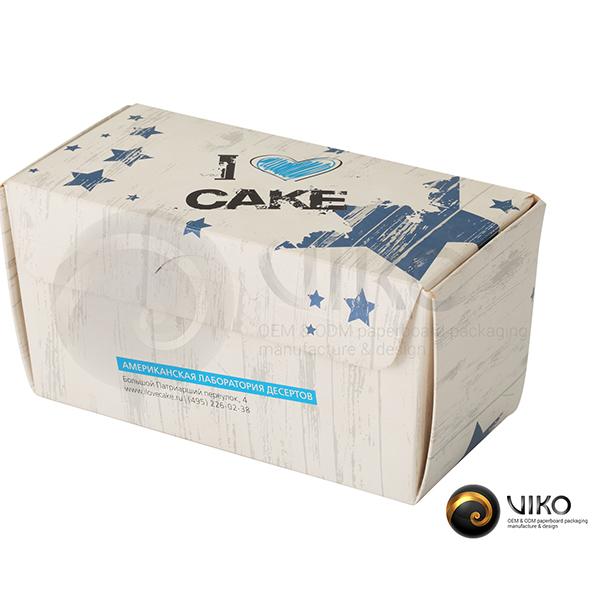 Упаковка для пирожных I Love Cake 170х85х85мм