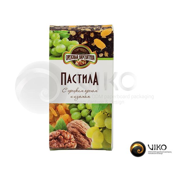 """Картонная упаковка для конфет / Для конфет / Картонная упаковка для конфет """"Пастила"""" 110х60х15 мм"""