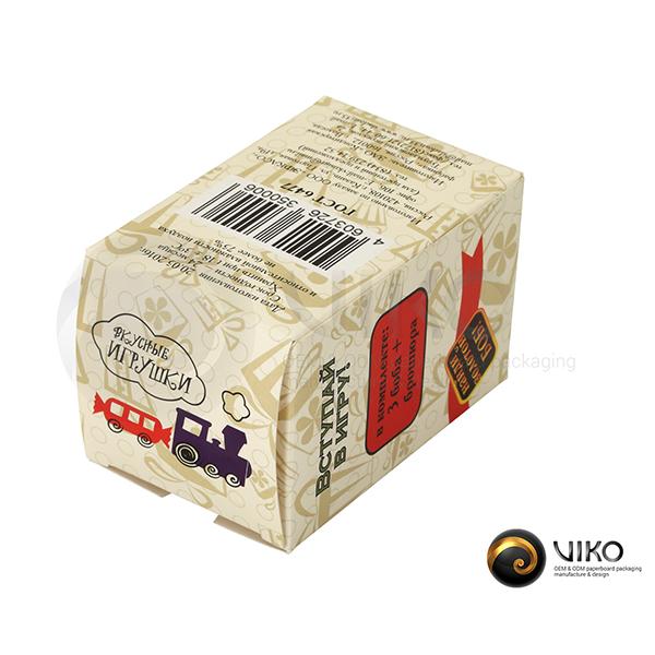 """Картонная упаковка для конфет / Для конфет / Картонная упаковка для конфет """"Крутые бобы"""" 80*50*50 мм"""